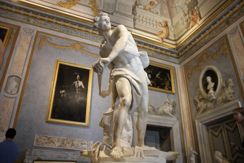 borghese gallery hours Bernini David