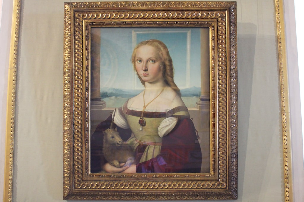 borghese gallery Young Woman with a Unicorn Raphael