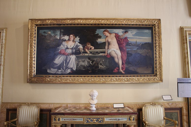 history of the borghese gallery Sacred And Profane Love