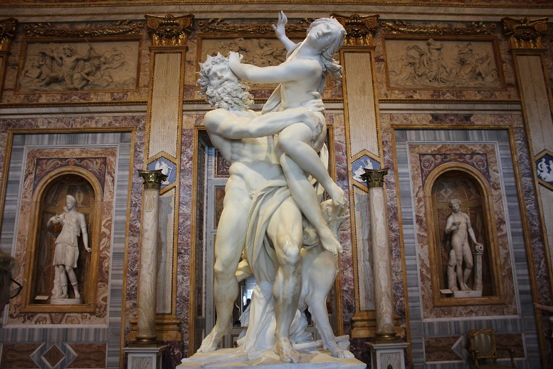 history of the borghese gallery The Rape Of Proserpina