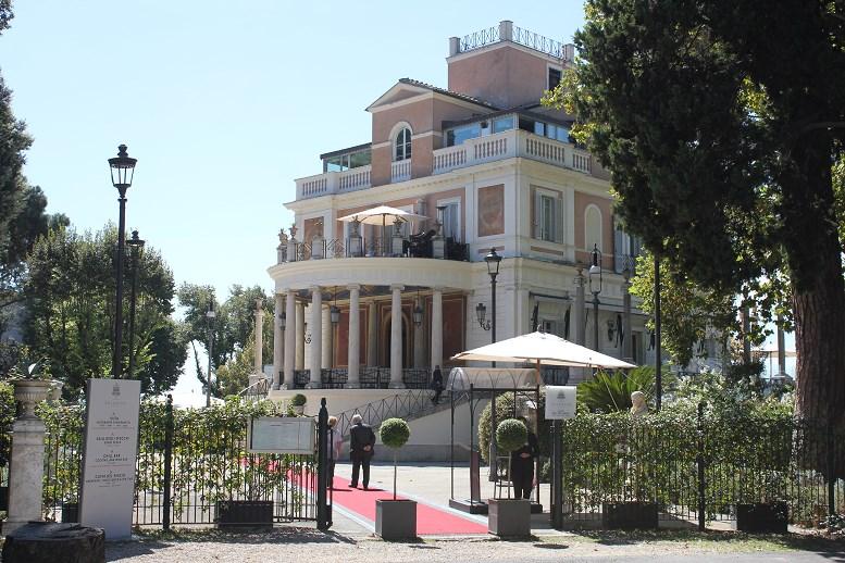 borghese gardens restaurant Casina Valladier