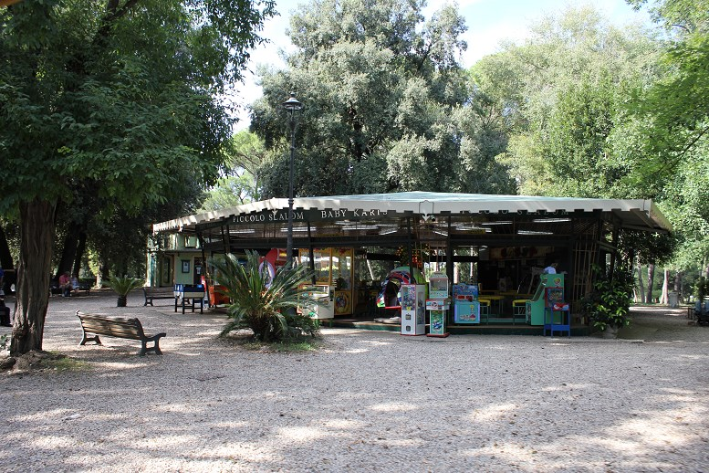 how to visit the villa borghese gardens cafe