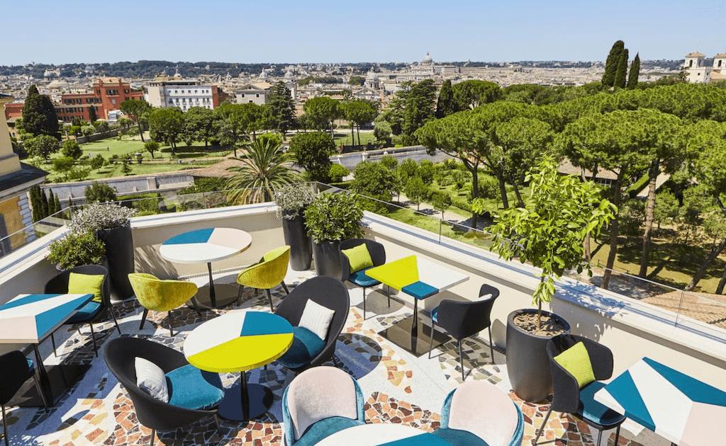 best bars near villa borghese Rooftop Bar Rome