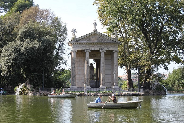 borghese gardens segway tour Boat temple asclepius