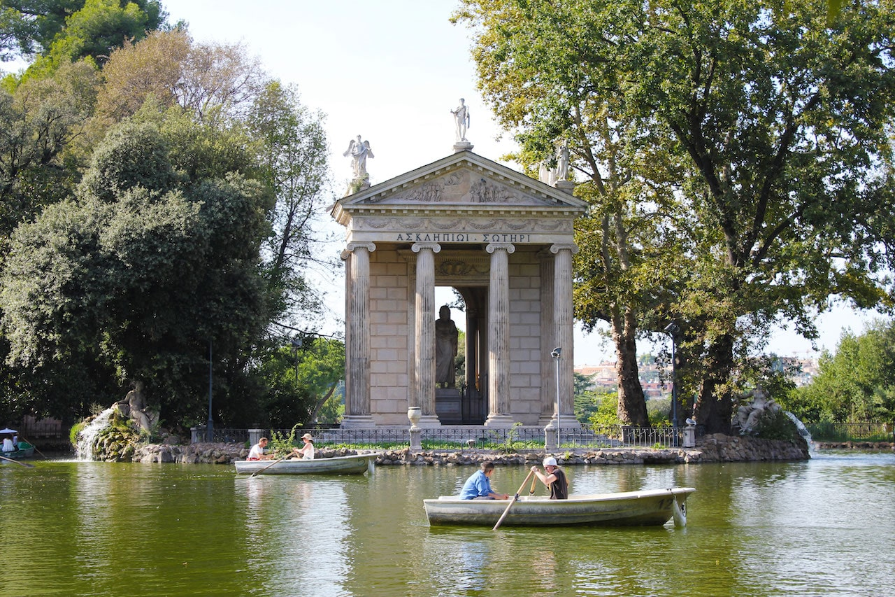 visit borghese gardens temple of asclepius