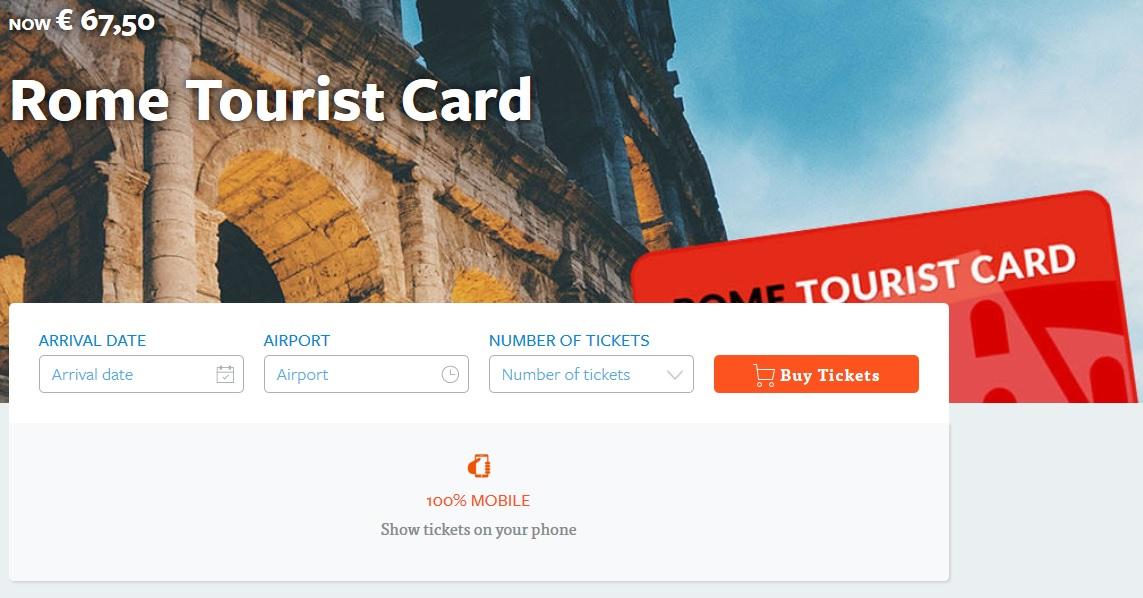 rome tourist card ticketbar