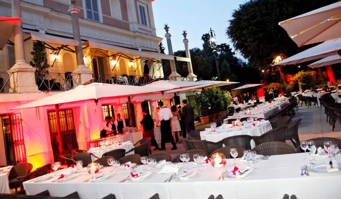 Dinner at open restaurant