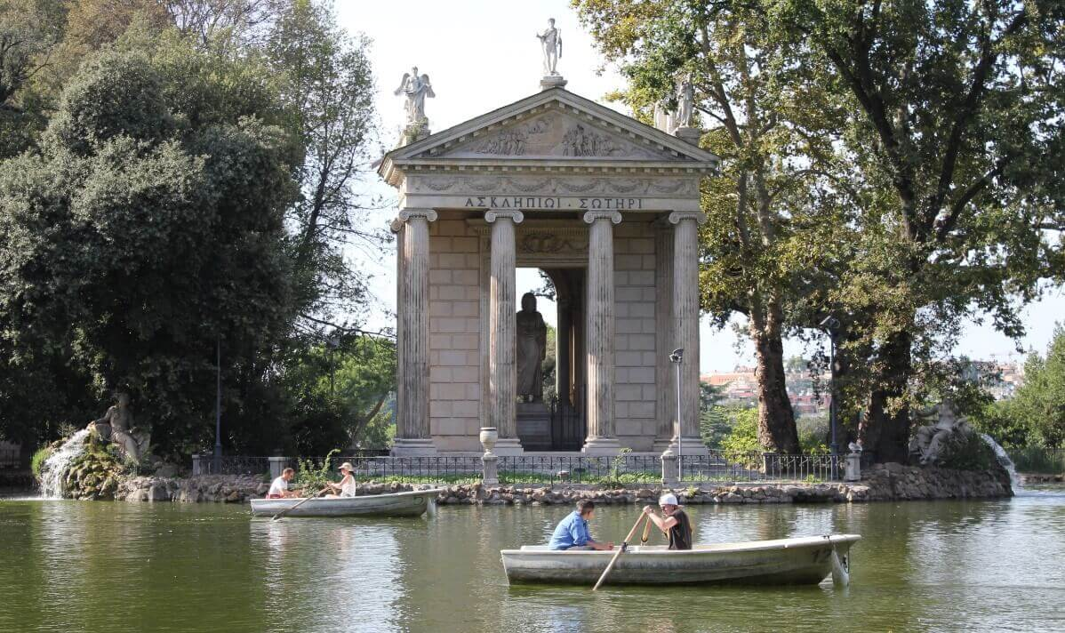 Visiting Temple of Asclepius in Rome