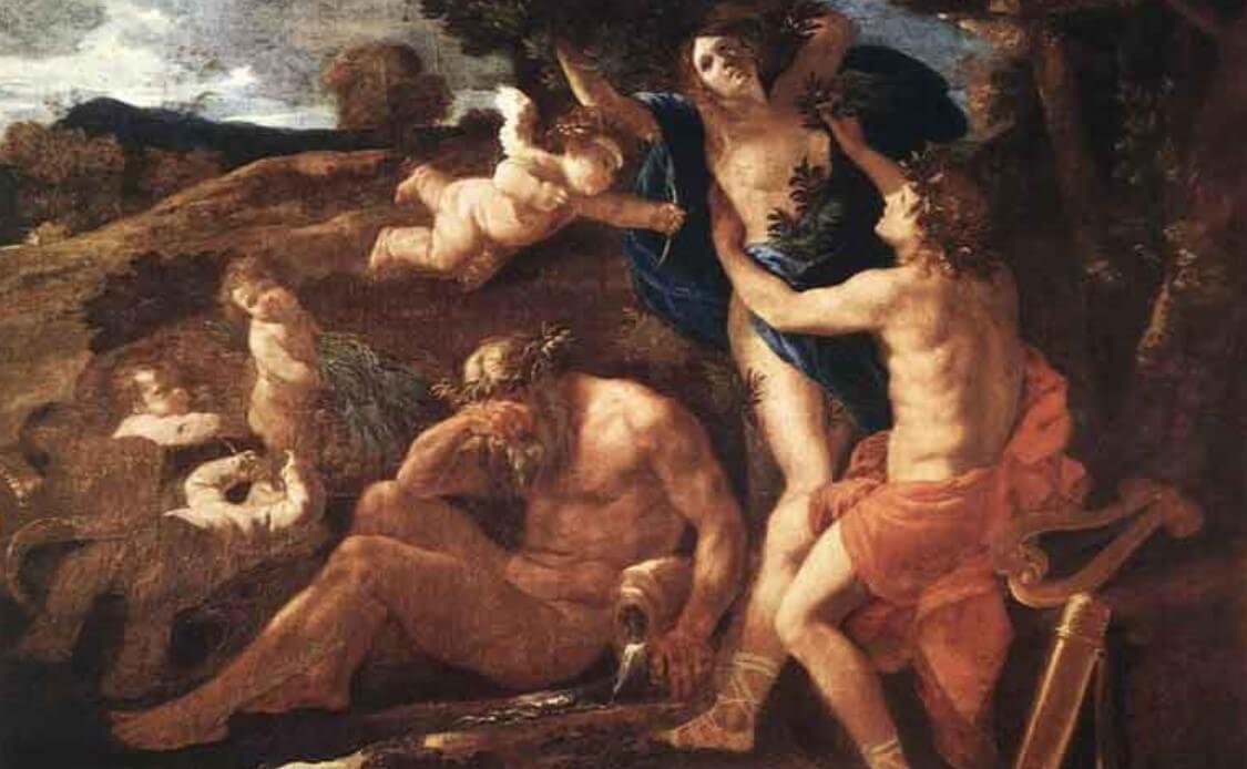 Apollo and Daphne myth painting