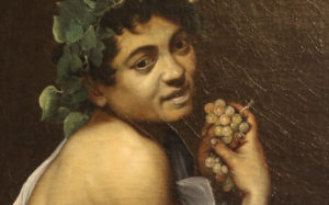 The painting Young Sick Bacchus