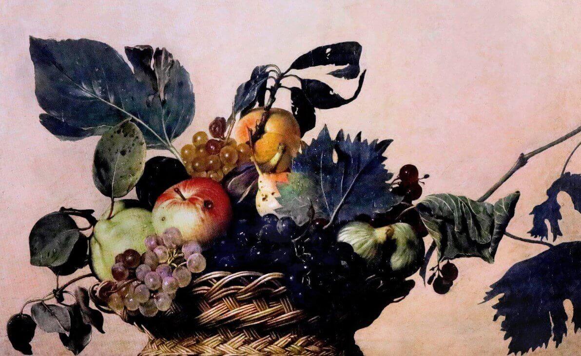 Basket of Fruit Caravaggio painting