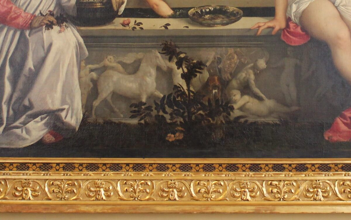 Elements of painting villa borghese